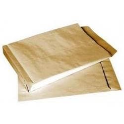 Poštovní taška (obálka) s křížovým dnem B4 hnědá - balení 2,38 Kč/ks